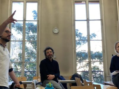 SciencesPo Paris workshop de escrita para o primeiro Jogo de Escape